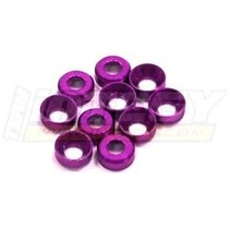 INTEGY 3MM ALLOY CONCAVE WASHER (10) PURPLE  C23038