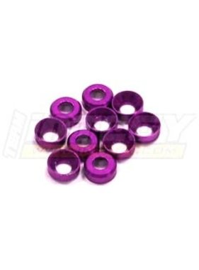 INTEGY INTEGY 3MM ALLOY CONCAVE WASHER (10) PURPLE  C23038