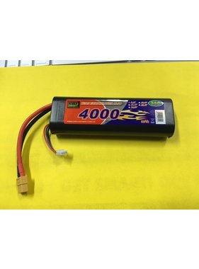 LION POWER - TIGER POWER LIPOS TIGER 35C HARD CASE LIPO 4000MAH 7.4V ROUND CASE <br /> <br /> READ SAFETY WARNING BEFORE USE 46x136.7x25mm 240g SOLD WITH XT60  PLUG