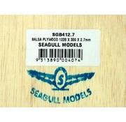 SEAGULL MODELS SEAGULL BALSA PLYWOOD 2.7mmX300x1200mm