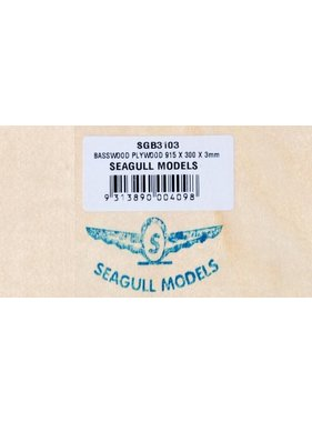 SEAGULL MODELS SEAGULL BASSWOOD CRAFT PLYWOOD 3X300X915mm