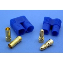 HY EC-5 BLUE PLUGS WITH 5mm CONNECTORS M &amp; F ( 4 PAIRS )<br />