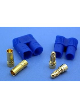 HY MODEL ACCESSORIES HY EC-5 BLUE PLUGS WITH 5mm CONNECTORS M &amp; F ( 4 PAIRS )<br />