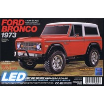 TAMIYA XB 1/0 SCALE FORD BRONCO 1973 CC-01 CHASSIS LED INCLUDED INCLUDES 2.4G RADIO.  REQUIRES 7.2V BATTERY AND 7.2V CHARGER