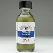 ALCLAD II LACQUER TITANIUM GOLD AIRBRUSH PAINT HAS TO HAVE BLACK BASE