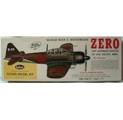 """GUILLOWS GUILLOWS WWII ZERO 27 3/4"""" WINGSPAN SCALE FLYING MODEL KIT  KIT NO 404LC"""