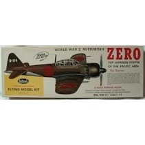 """GUILLOWS WWII ZERO 27 3/4"""" WINGSPAN SCALE FLYING MODEL KIT  KIT NO 404LC"""