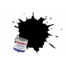 HUMBROL ENAMEL 14ML SATIN COAL BLACK  # 85