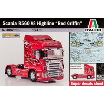 "Italeri Scania R560 V8 Highline "" Red Griffin""  1:24 with super decals sheet"