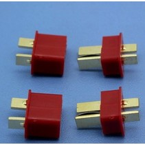 HY T PLUG WITH END GRIP U/GOLD PL M &amp; F ( 4 PAIRS )<br />