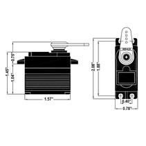 HITEC 7955TG C/LESS DIGITAL SERVO IN PLASTIC BOX Torque kg./cm. (4.8V/6.0V): 18.0kg / 24.0kg <br />Speed (4.8V/6.0V) 0.19 / 0.15<br /><br />HITEC DIG HS7955TG 24.0kg
