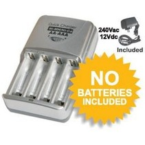 PROLINK ULTRA FAST NIMH/NICD BATTERY CHARGER 12V & 240V INPUT AA & AAA ONLY