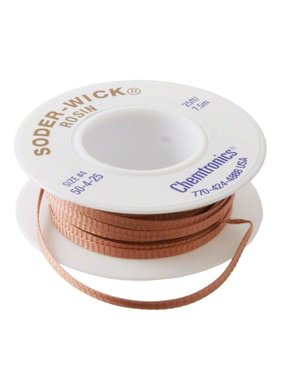 WES COMPONENTS SOLDER WICK SIZE #4 (3MM) 25 FEET