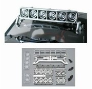 """RPM RPM ROOF MOUNTED LIGHT BAR SET CHROME FITS ANY VEHICLE WITH A MIN 6"""" WIDE ROOF"""