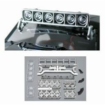 """RPM ROOF MOUNTED LIGHT BAR SET CHROME FITS ANY VEHICLE WITH A MIN 6"""" WIDE ROOF"""