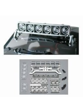 "RPM RPM ROOF MOUNTED LIGHT BAR SET CHROME FITS ANY VEHICLE WITH A MIN 6"" WIDE ROOF"