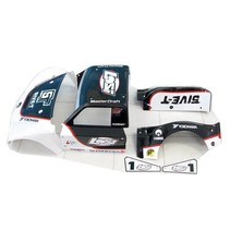 LOSI 5IVE-T RIGHT FENDER REAR  BODY SET PAINTED BLACK STYLE &  STICKERED ( COMPLETE BODY PICTURED FOR REFERENCE ONLY )