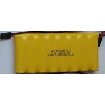 ACE PREMIUM NICD 9.6V 1000mah AA TX BATTERY PACK WITH BLACK JR PLUG