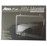 """ARES ARES ZLINE 7"""" DUAL DIVERSITY FPV LCD SCREEN MONITOR  1024 X 600 DISPLAY 24 CH 5.8 GHZ INCLUDES 2 X 1800 MAH LIPO BATTERY & MAINS CHARGER"""