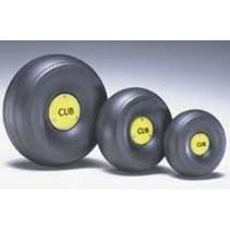 "DUBRO 1/4 SCALE TREADED LIGHTWEIGHT J-3 CUB WHEELS (4-1/4"" DIA)  425TLC"