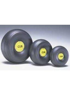 "DUBRO DUBRO 1/4 SCALE TREADED LIGHTWEIGHT J-3 CUB WHEELS (4-1/4"" DIA)  425TLC"
