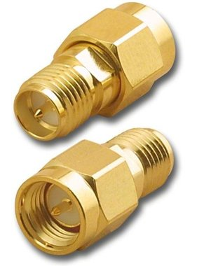 CHINA ELECTRONICS GOLD PLATED SMA MALE TO RP-SMA FEMALE ADAPTER