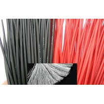 MEDIUM SILCONE RED or BLACK WIRE 1.5MM GAUGE  PER METRE