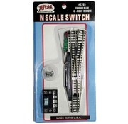 ATLAS ATLAS N SCALE SWITCH TURNOUT RIGHT REMOTE #2705