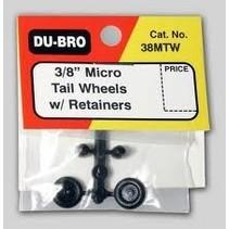 DUBRO Micro Tailwheel w/Rtnr 3/8(2) 38MTW