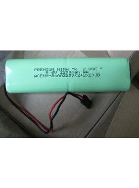 "CHENNER BATTERIES PREMIUM NIMH ""R  2 USE "" 9.6V 2200mah AA     LOW DISCHARGE CELLS  CHARGED TO 50% CAPACITY"