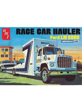 AMT AMT FORD LN 8000 RACE CAR HAULER LOUISVILLE LINE 1:25 RETRO DELUXE PLASTIC KIT