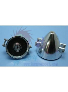 HY MODEL ACCESSORIES HY ALUMINIUM FOLDING ALUMINIUM E-SPINNER 4.0 x 32mm  2mm BLADE SCREWS <br />( OLD CODE HY020701D )