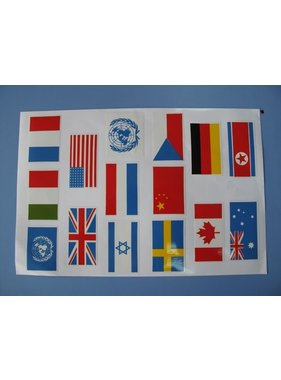 HY MODEL ACCESSORIES HY VINYL FLAGS 90 x 45mm x 10 FLAGS <br />