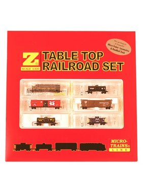 MICRO TRAINS · MICRO TRAINS MICRO TRAINS Western Pacific F7 Set Table Top  Train Set Z SCALE   No