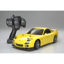 TAMIYA MAZDA RX-7  XB PRO DRIFT SPEC + LED LIGHT UNIT INCLUDED 2.4 GHZ RADIO INCLUDED JUST REQUIRES 7.2 V BATTERY AND CHARGER AND 4 AA BATTERIES