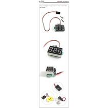 ACE DIGITAL VOLTAGE MONITOR FOR 3.7-30V RED, BLUE OR GREEN DISPLAY