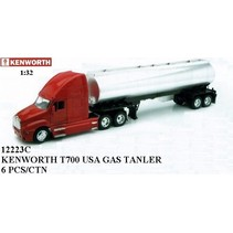 NEWRAY KENWORTH T700 WITH PETROLEUM TANKER 1/32 BLACK CAB