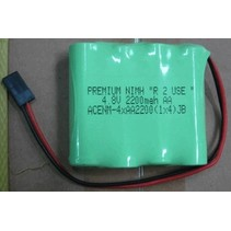 """PREMIUM NIMH """"R  2 USE """"  4.8V 2200mah AA   LOW DISCHARGE CELLS  CHARGED TO 50% CAPACITY"""