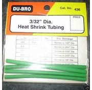 DUBRO DUBRO 3/32 Heat Shrink Tubing Green