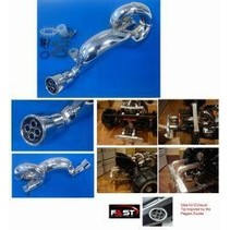 "DDM DOMINATOR ""FAST"" PIPE FOR BAJA 5B CHROME"