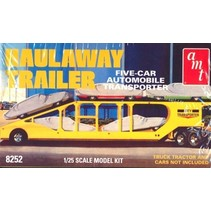 AMT 1/25 HAULAWAY TRAILER FIVE CAR AUTO TRANSPORTER  1998 RE-RELEASE OF ORIGINAL 1971 KIT
