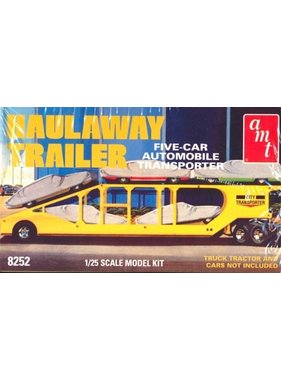AMT AMT 1/25 HAULAWAY TRAILER FIVE CAR AUTO TRANSPORTER  1998 RE-RELEASE OF ORIGINAL 1971 KIT