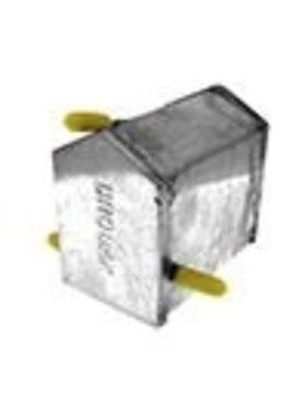 "BRODAK CONTROL LINE Deep Wedge Profile Standard Vent Fuel Tank 4 oz.  1-7/16"" H x 2"" W x 3"" Long"