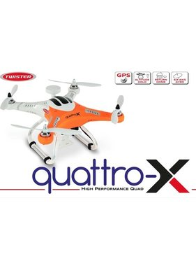 TWISTER TWISTER MODE 1 QUATTRO-X QUAD WITH GPS HOLD ATTITUDE HOLD RETURN HOME &amp; 6 AXIS GYRO<br /> <br /> INSTRUCTION LINKS <br /> https://youtu.be/B5Obq_wJpOM<br /> https://youtu.be/gOyzF6dywVU<br /> https://youtu.be/p-Sbt9O4JGE<br /> https://youtu.be/Od6FK5tRcg4<br /> https://youtu.be/98sjb2DS9NQ