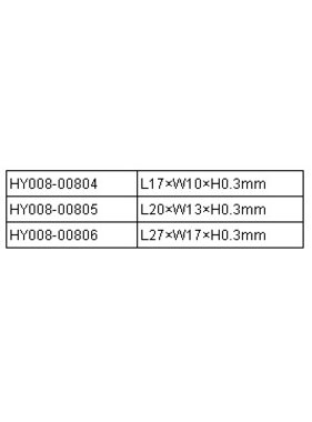 HY MODEL ACCESSORIES HY CA FABRIC HINGE<br />