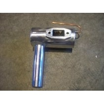 HY 50CC GAS MUFFLER POLISHED ALUMINIUM TYPE WITH SMOKER COIL <br />