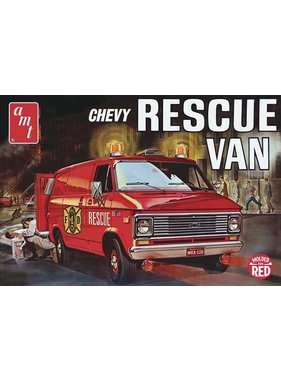 AMT AMT CHEVY RESCUE VAN 1/25 RED