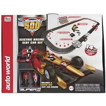 Auto World Indianapolis 500 Slot Car Race Set 14'