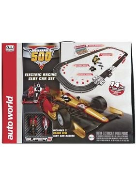 AUTO WORLD Auto World Indianapolis 500 Slot Car Race Set 14'