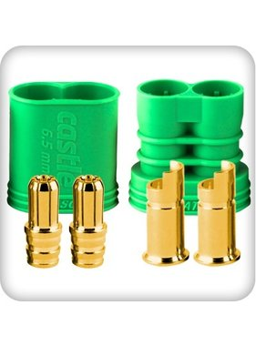 CASTLE CREATIONS CASTLE CREATIONS 6.5MM POLARIZED BULLET CONECTOR